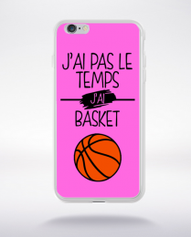 Coque j ai pas le temps j ai basket 7 compatible iphone 6 transparent