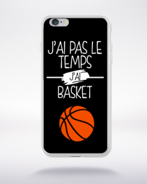 Coque j ai pas le temps j ai basket 1 compatible iphone 6 transparent