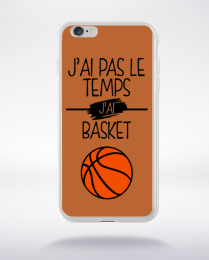 Coque j ai pas le temps j ai basket 6 compatible iphone 6 transparent