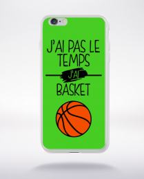 Coque j ai pas le temps j ai basket 9 compatible iphone 6 transparent