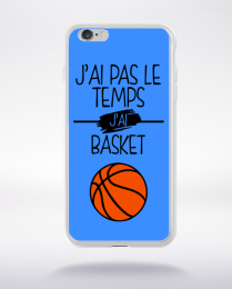 Coque j ai pas le temps j ai basket 10 compatible iphone 6 transparent