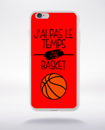 Coque j ai pas le temps j ai basket 4 compatible iphone 6 transparent