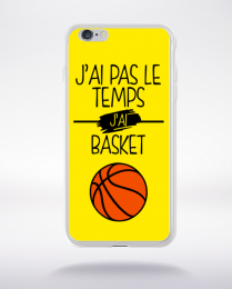 Coque j ai pas le temps j ai basket 3 compatible iphone 6 transparent