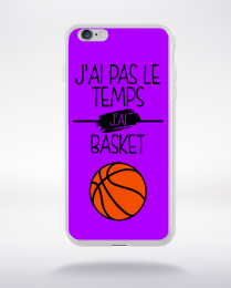 Coque j ai pas le temps j ai basket 5 compatible iphone 6 transparent