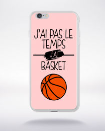 Coque j ai pas le temps j ai basket 11 compatible iphone 6 transparent