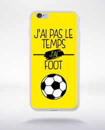 Coque j ai pas le temps j ai foot 3 compatible iphone 6 transparent