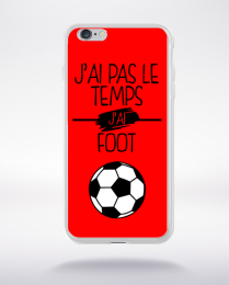 Coque j ai pas le temps j ai foot 4 compatible iphone 6 transparent