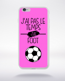 Coque j ai pas le temps j ai foot 7 compatible iphone 6 transparent