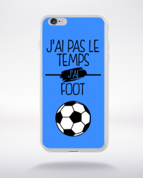 Coque j ai pas le temps j ai foot 10 compatible iphone 6 transparent