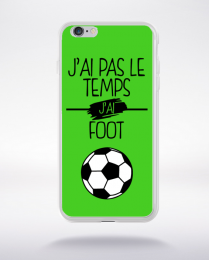 Coque j ai pas le temps j ai foot 9 compatible iphone 6 transparent