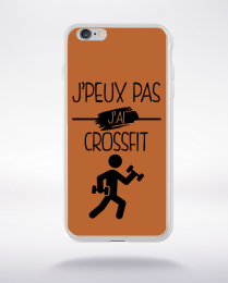 Coque j peux pas j ai crossfit 6 compatible iphone 6 transparent