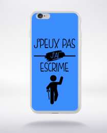Coque j peux pas j ai escrime 10 compatible iphone 6 transparent