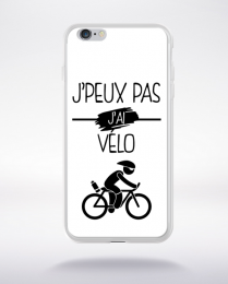 Coque j peux pas j ai velo 2 compatible iphone 6 transparent