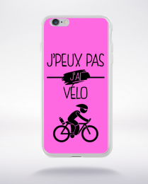 Coque j peux pas j ai velo 7 compatible iphone 6 transparent