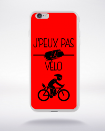 Coque j peux pas j ai velo 4 compatible iphone 6 transparent