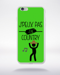 Coque j peux pas j ai country 6 compatible iphone 6 transparent