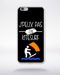 Coque j peux pas j ai kitesurf 1 compatible iphone 6 transparent
