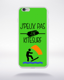 Coque j peux pas j ai kitesurf 7 compatible iphone 6 transparent