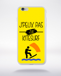 Coque j peux pas j ai kitesurf 2 compatible iphone 6 transparent