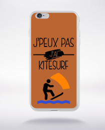 Coque j peux pas j ai kitesurf 5 compatible iphone 6 transparent