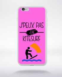 Coque j peux pas j ai kitesurf 6 compatible iphone 6 transparent