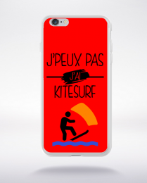 Coque j peux pas j ai kitesurf 3 compatible iphone 6 transparent