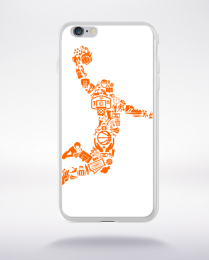 Coque basketball player compatible iphone 6 transparent