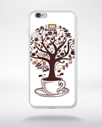 Coque coffee tree compatible iphone 6 transparent