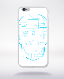 Coque electric skull compatible iphone 6 transparent