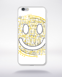Coque electric smiley compatible iphone 6 transparent