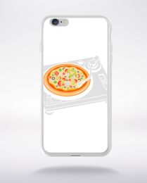 Coque pizza scratch compatible iphone 6 transparent