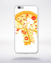 Coque pizza moon compatible iphone 6 transparent