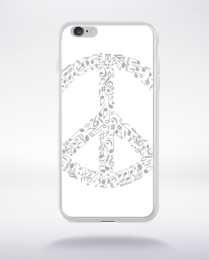 Coque rhyme in peace compatible iphone 6 transparent