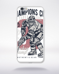 Coque champions cup hockey compatible iphone 6 transparent