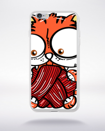 Coque cat playing compatible iphone 6 transparent