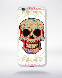 Coque floral skull compatible iphone 6 transparent