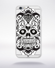 Coque floral skull 5 compatible iphone 6 transparent