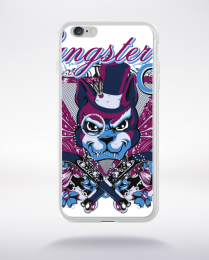 Coque gangster cat compatible iphone 6 transparent