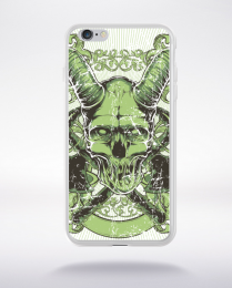 Coque horned skull compatible iphone 6 transparent
