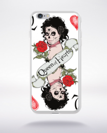 Coque queen of hearts compatible iphone 6 transparent
