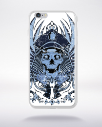 Coque policeman skull compatible iphone 6 transparent