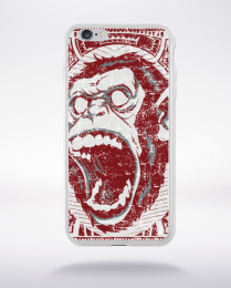 Coque screaming monkey compatible iphone 6 transparent