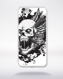 Coque screaming skull compatible iphone 6 transparent