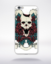 Coque skull and guns compatible iphone 6 transparent