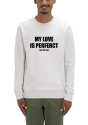 Le sweat shirt homme creme chine gris my love is perfect