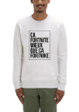 Le sweat shirt homme creme chine gris fortnite