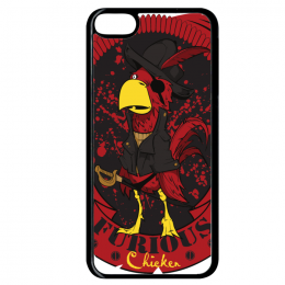 Coque furious chicken compatible ipod touch 6 bord noir