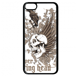 Coque forever resting head compatible ipod touch 6 bord noir