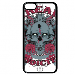 Coque freak addicted compatible ipod touch 6 bord noir