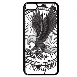 Coque fly and conquer compatible ipod touch 6 bord noir